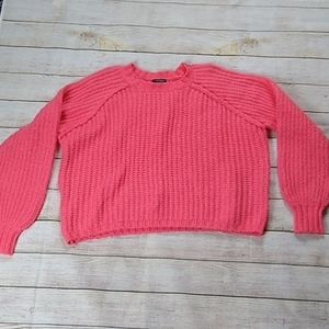 Bright pink/coral knit sweater